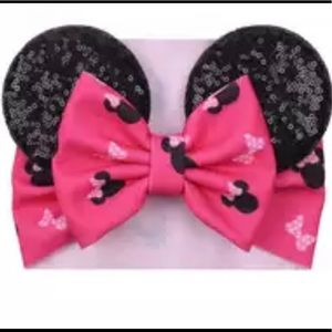 Other - New Disney Boutique Minnie Ears Turban head bow